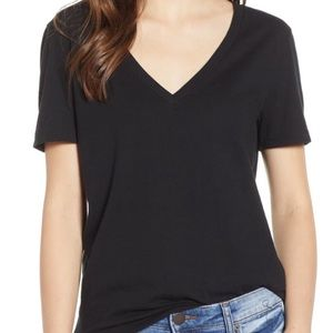 Nordstrom BP Small Black V-Neck T-Shirt